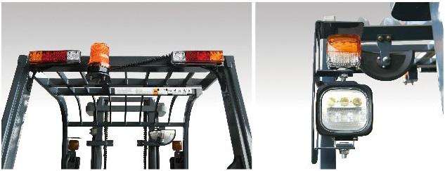 Đèn LED cảnh báo xe nâng điện 3 bánh