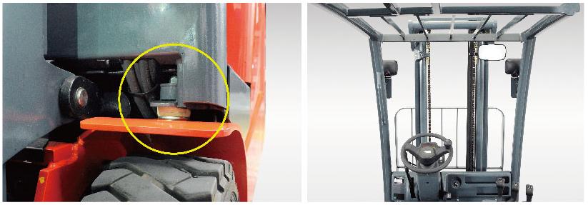 Tầm nhìn đệm chống rung xe nâng điện 3 bánh