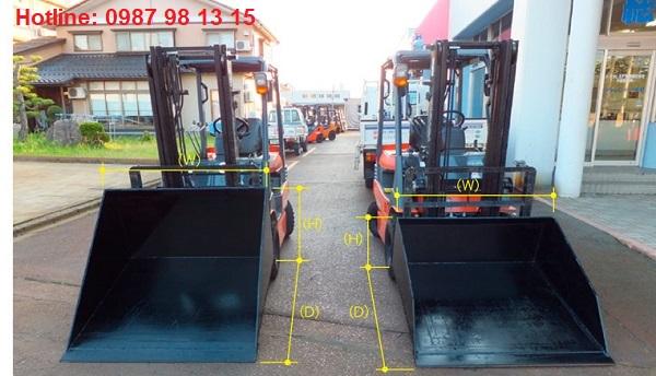 Xe nâng gầu xúc với kích thước tùy chọn